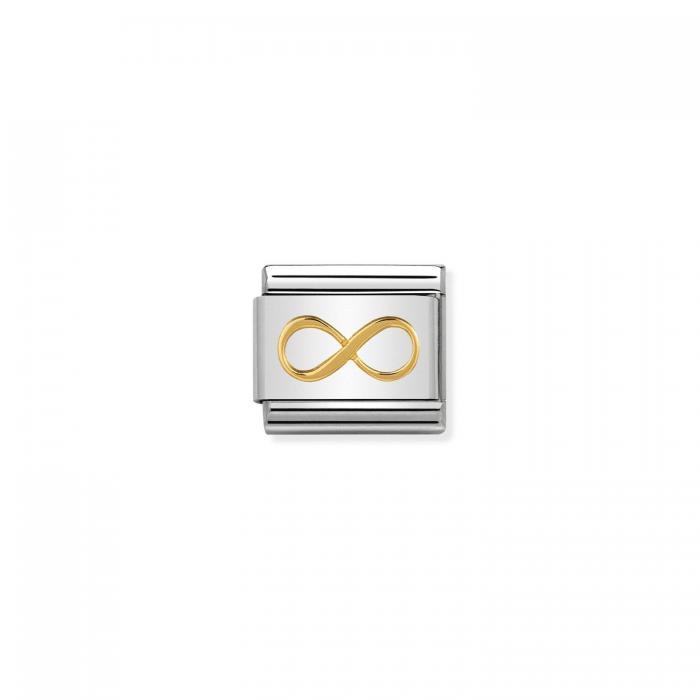 SKU-50802 / Link Nomination Infinity Ανοξείδωτο Ατσάλι & Χρυσός Κ18