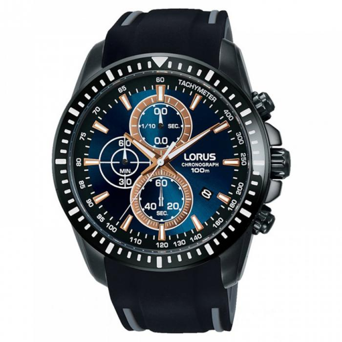 SKU-50583 / LORUS Sports Black Silicone Strap