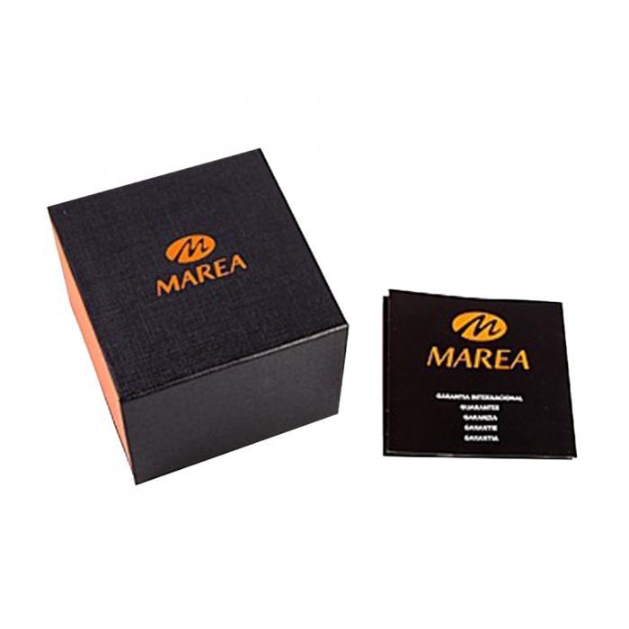 MAREA Smartwatch Silver Stainless Steel Bracelet & Black Rubber Strap Gift