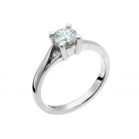 Μονόπετρο Δαχτυλίδι Λευκόχρυσος Κ18 με Διαμάντι SKU-50452