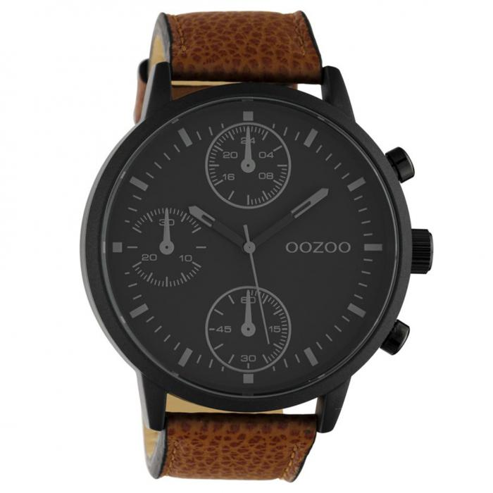 SKU-50676 / OOZOO Timepieces Summer Brown Leather Strap