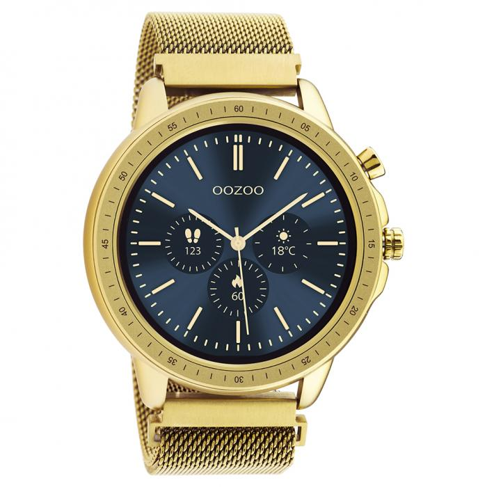 OOZOO Smartwatch Gold Metal Mesh Bracelet