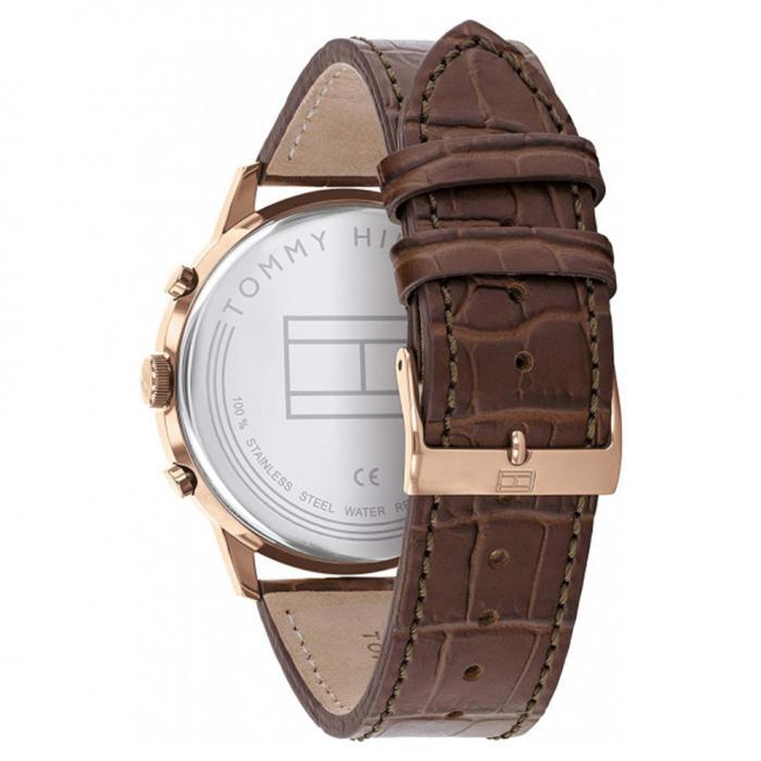 SKU-50670 / TOMMY HILFIGER Easton Brown Leather Strap