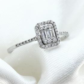 Δαχτυλίδι Λευκόχρυσος Κ18 με Διαμάντια Δαχτυλίδια