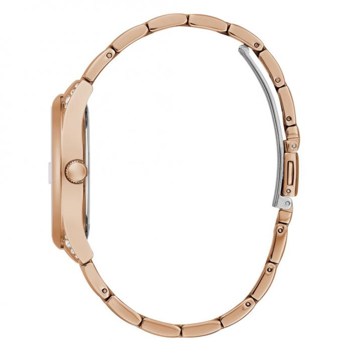 GUESS Aura Crystals Rose Gold Stainless Steel Bracelet