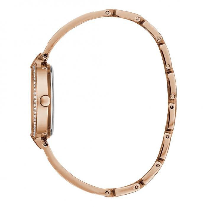 GUESS Mini Luxe Crystals Rose Gold Stainless Steel Bracelet