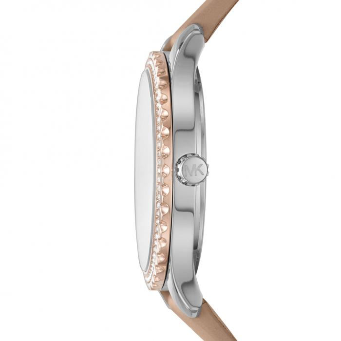 SKU-51557 / MICHAEL KORS Layton Crystals Brown Leather Strap