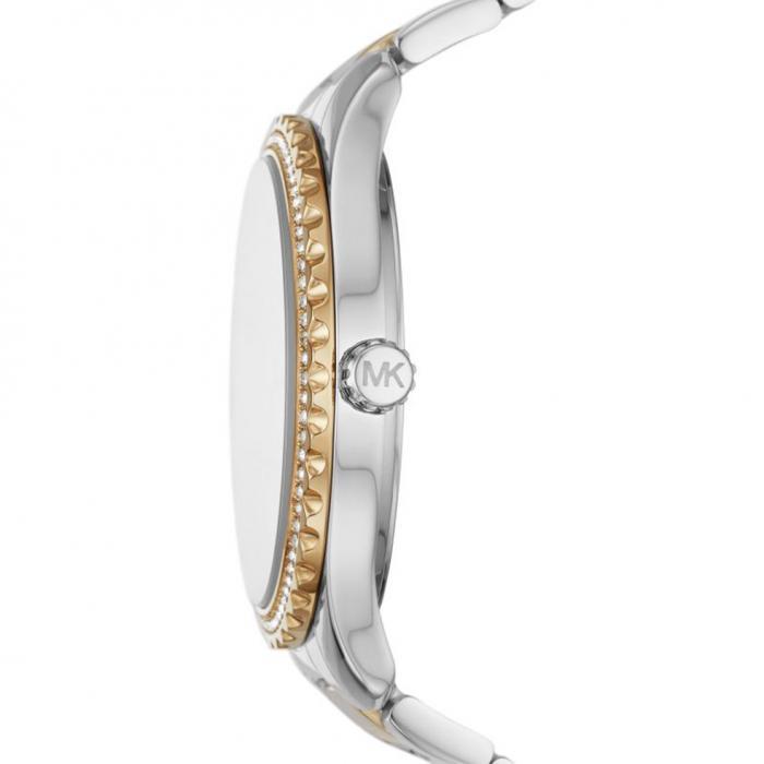 SKU-51556 / MICHAEL KORS Layton Two Tone Crystals Stainless Steel Bracelet