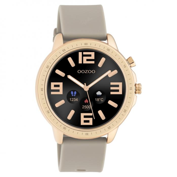 OOZOO Smartwatch Brown Rubber Strap
