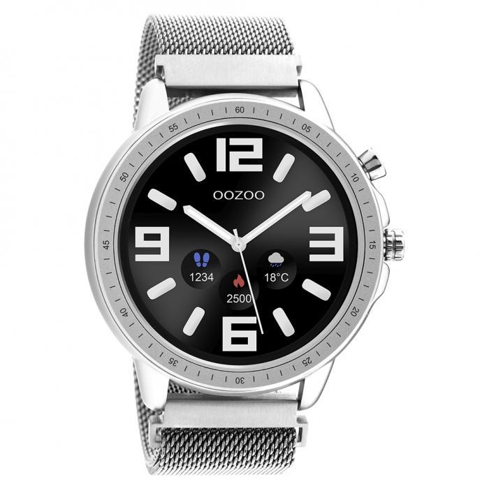 OOZOO Smartwatch Silver Metal Mesh Bracelet