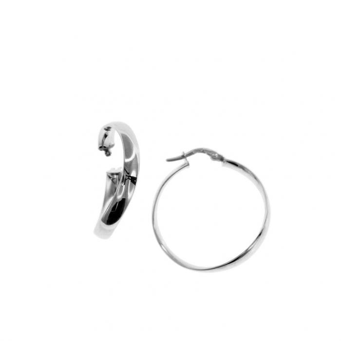 SKU-51616 / Σκουλαρίκια Κρίκοι Λευκόχρυσος Κ9
