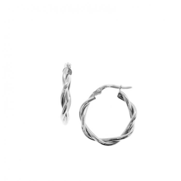 SKU-51617 / Σκουλαρίκια Κρίκοι Λευκόχρυσος Κ9