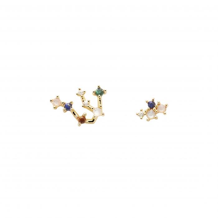 SKU-51315 / Σκουλαρίκια Καρφωτά PDPAOLA Aquarius Ασήμι 925°