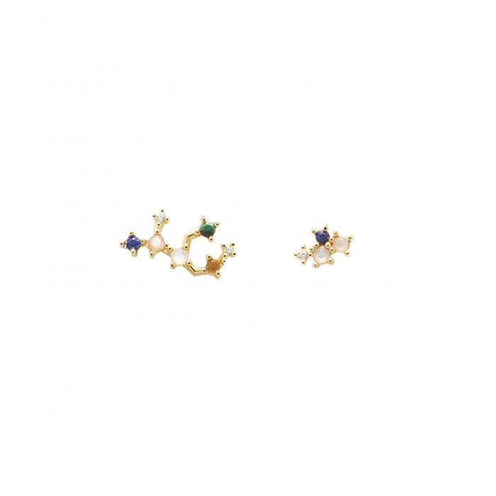 SKU-51318 / Σκουλαρίκια Καρφωτά PDPAOLA Virgo Ασήμι 925°