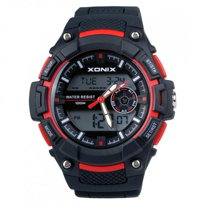 SKU-51417 / XONIX Anadigi Black Silicone Strap