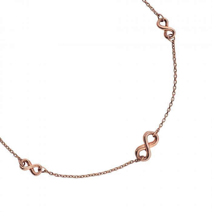 Βραχιόλι Infinity Ροζ Χρυσός Κ14