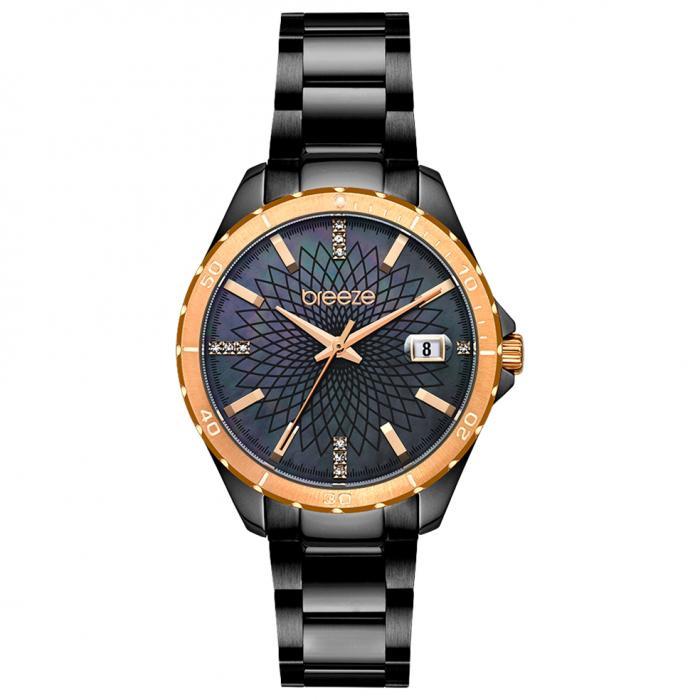 SKU-52619 / BREEZE MantaRay Crystals Black Stainless Steel Bracelet