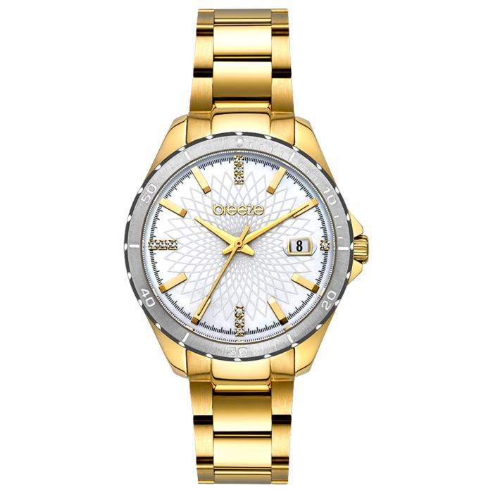 SKU-52612 / BREEZE MantaRay Crystals Gold Stainless Steel Bracelet