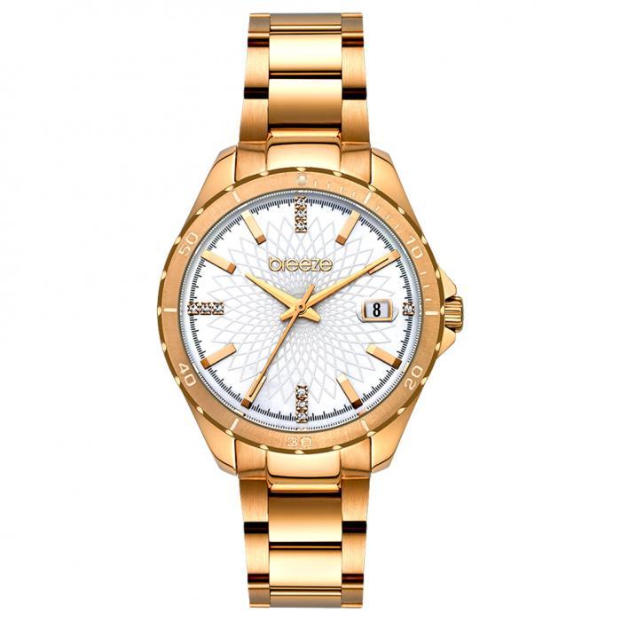 SKU-52611 / BREEZE MantaRay Crystals Rose Gold Stainless Steel Bracelet