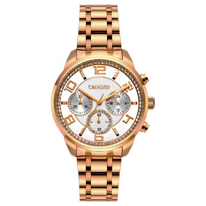 SKU-52452 / BREEZE Myrina Chronograph Rose Gold Stainless Steel Bracelet