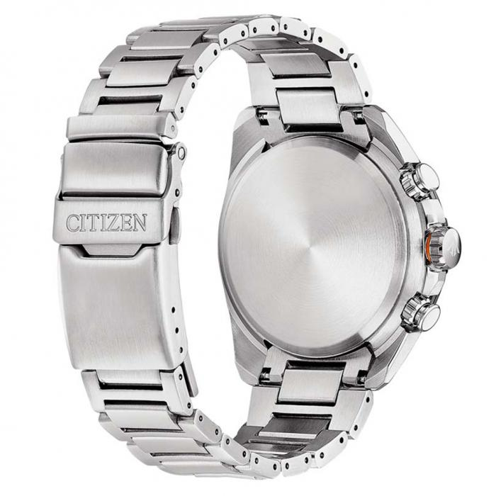 SKU-52429 / CITIZEN Promaster Land Eco-drive Chronograph Silver Radio Controlled Stainless Steel Bracelet