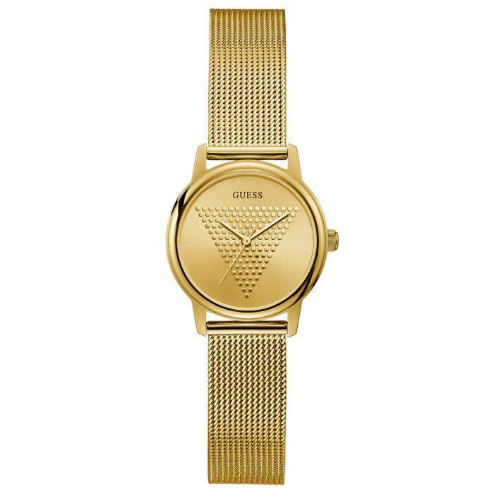 SKU-52702 / GUESS Micro Imprint Gold Stainless Steel Bracelet