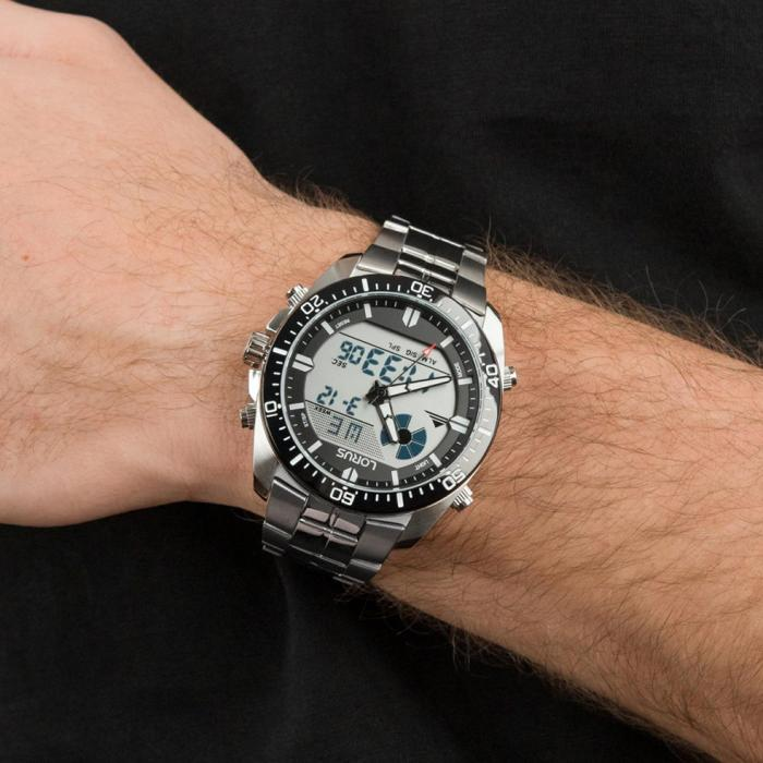 SKU-52756 / LORUS Sports Anadigi Stainless Steel Bracelet