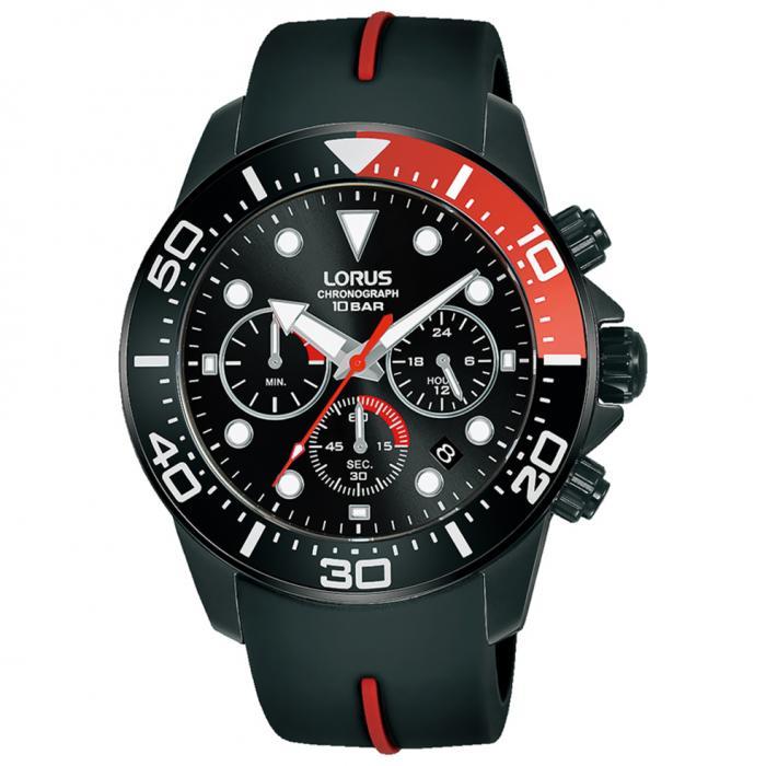 SKU-52761 / LORUS Sports Black Silicone Strap