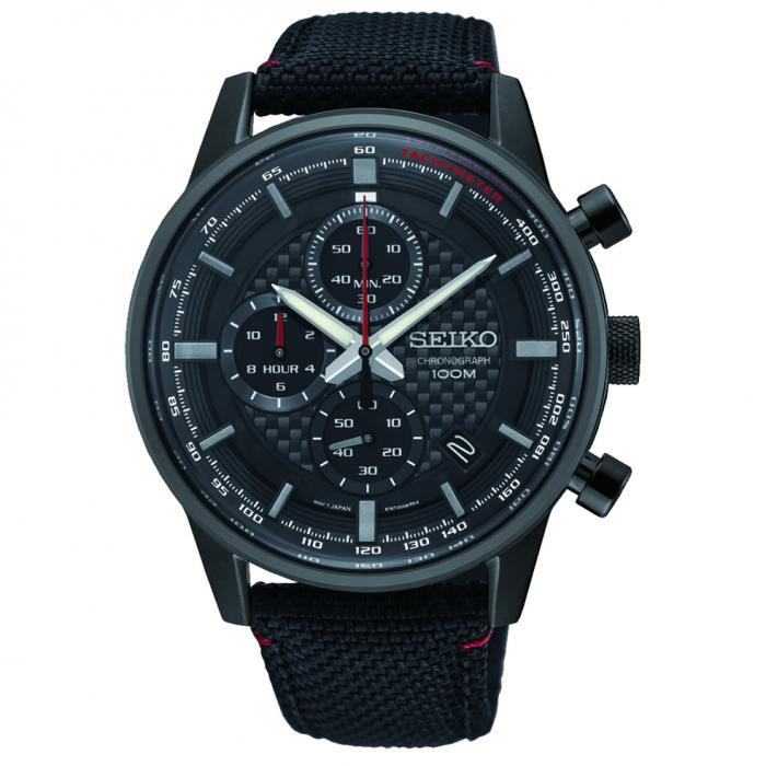 SKU-52735 / SEIKO Conceptual Chronograph Black Fabric Strap