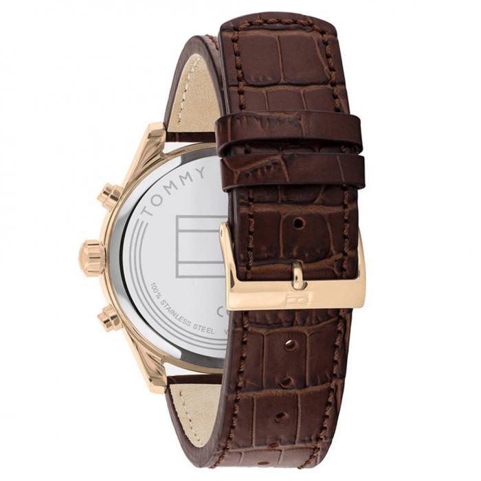 SKU-52018 / TOMMY HILFIGER Brown Leather Strap