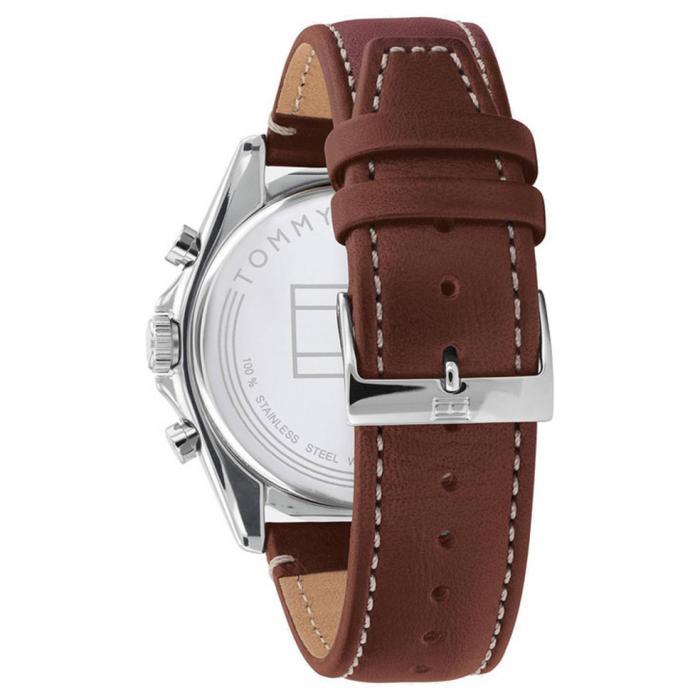 SKU-52019 / TOMMY HILFIGER Parker Brown Leather Strap