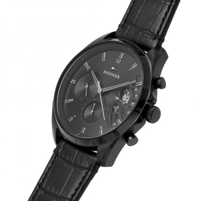 SKU-52288 / TOMMY HILFIGER Black Leather Strap