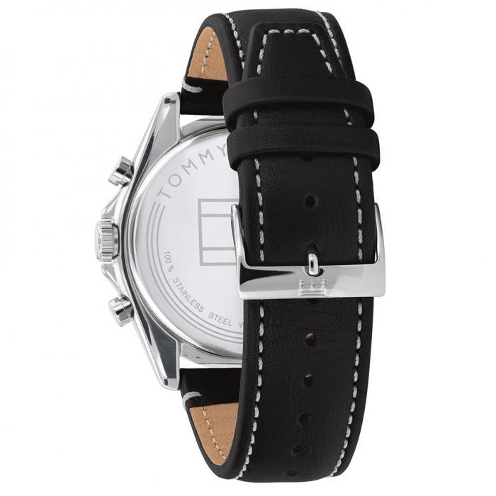 SKU-52824 / TOMMY HILFIGER Parker Black Leather Strap