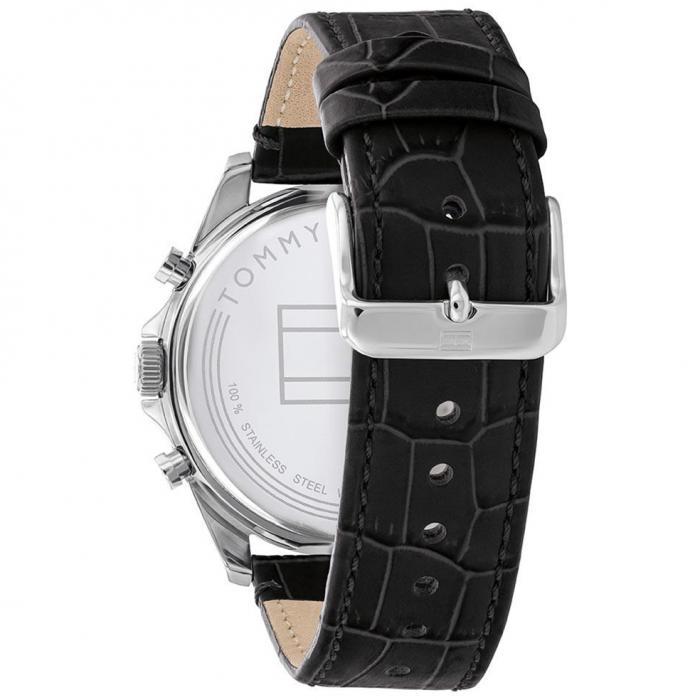 SKU-52825 / TOMMY HILFIGER Baker Black Leather Strap