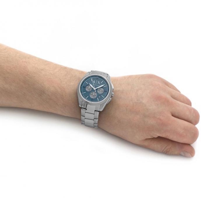 ARMANI EXCHANGE Giacomo Silver Stainless Steel Bracelet
