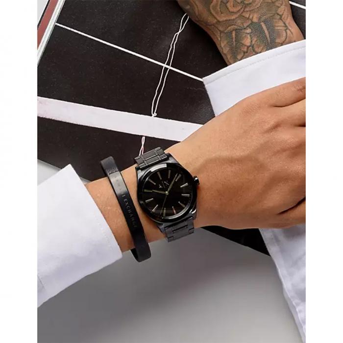 ARMANI EXCHANGE Nico Box Set Black Stainless Steel Bracelet