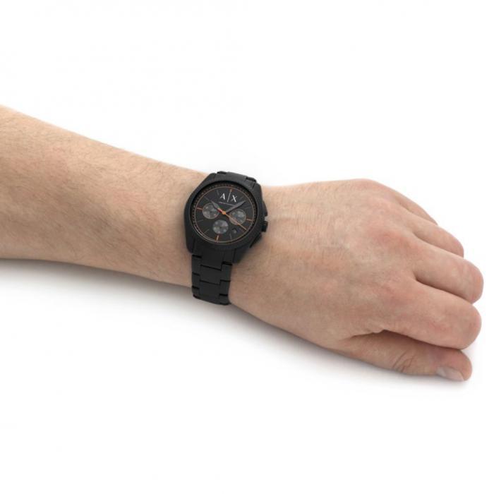 ARMANI EXCHANGE Giacomo Chronograph Black Stainless Steel Bracelet