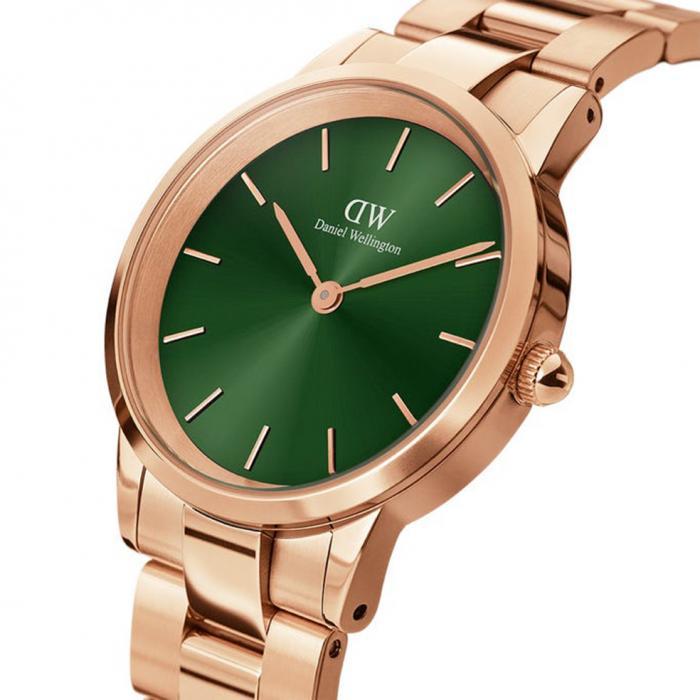 SKU-53998 / DANIEL WELLINGTON Iconic Link Emerald Rose Gold Stainless Steel Bracelet