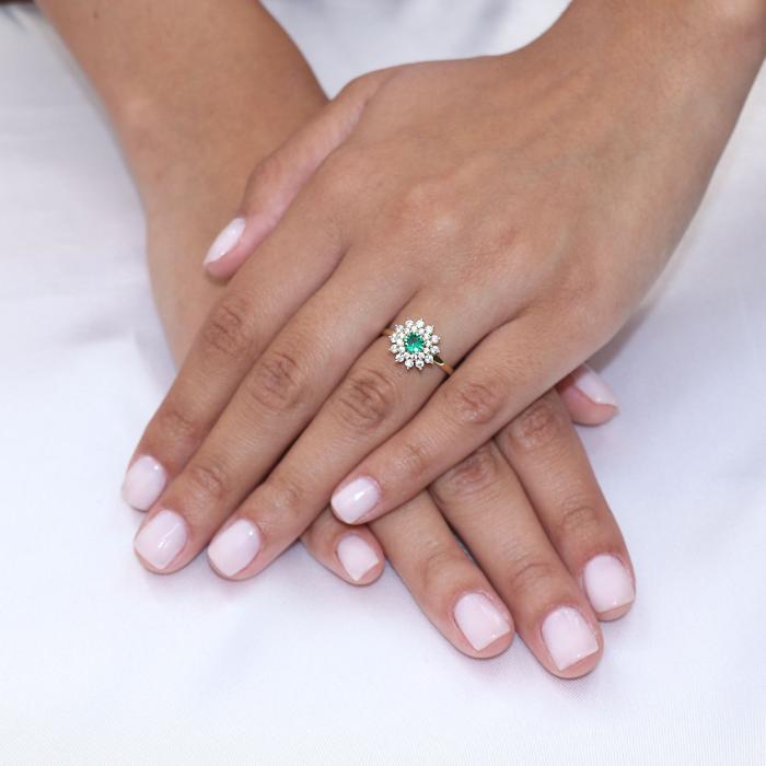 SKU-53075 / Δαχτυλίδι Ροζέτα Χρυσός Κ14 με Ζιργκόν