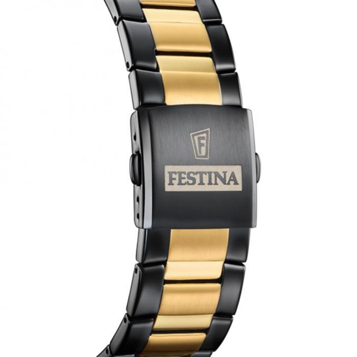 FESTINA Chronograph Two Tone Stainless Steel Bracelet