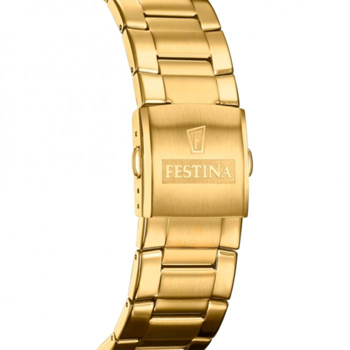 FESTINA Chronograph Gold Stainless Steel Bracelet