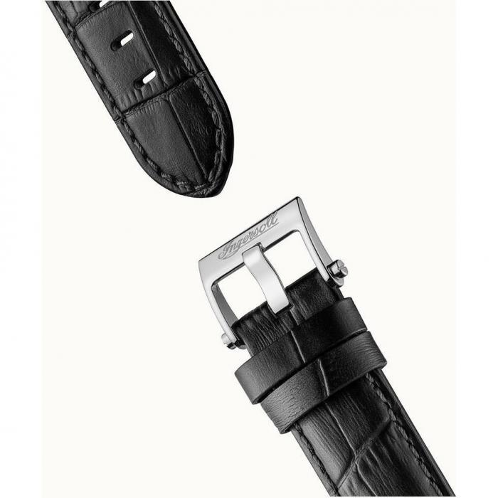 SKU-53010 / INGERSOLL Baldwin Automatic Black Leather Strap