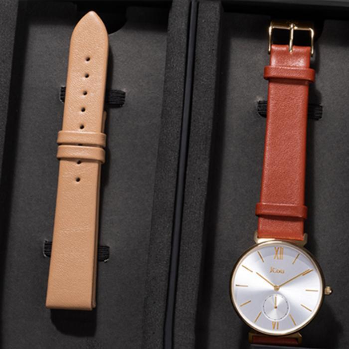 JCOU Grace Gift Box Brown Leather Strap