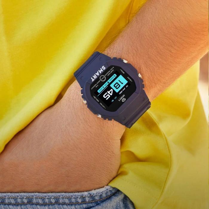 MAREA Smartwatch Blue Rubber Strap
