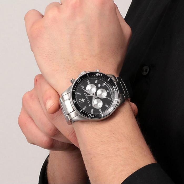 MASERATI Sfida Chronograph Silver Stainless Steel Bracelet