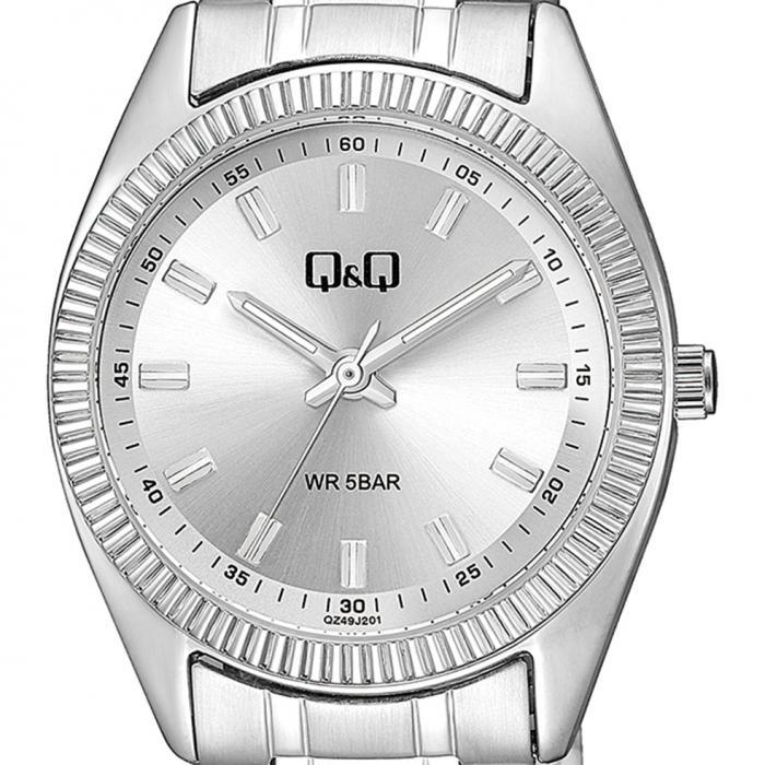 Q&Q Silver Metal Bracelet