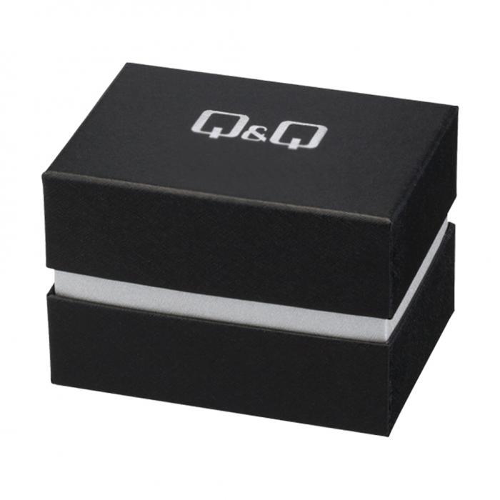 Q&Q Rose Gold Crystals Stainless Steel Bracelet