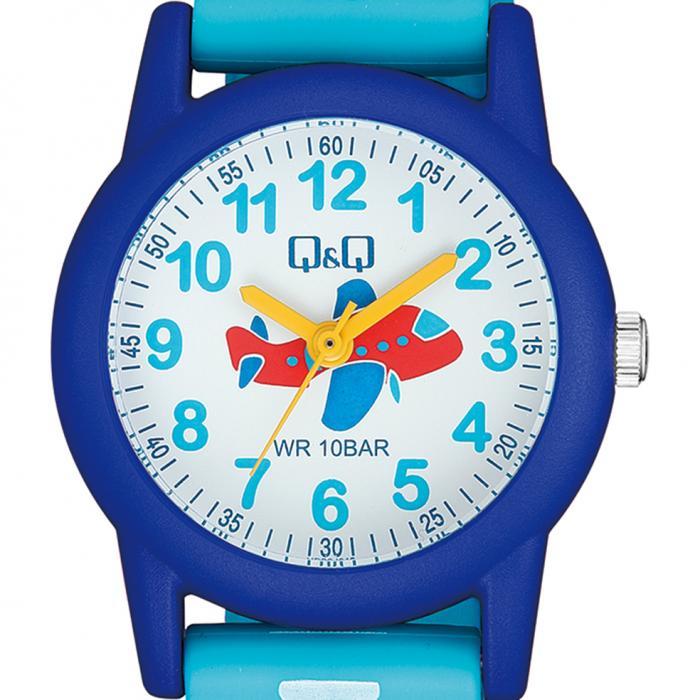 Q&Q Kids Airplane Light Blue Strap