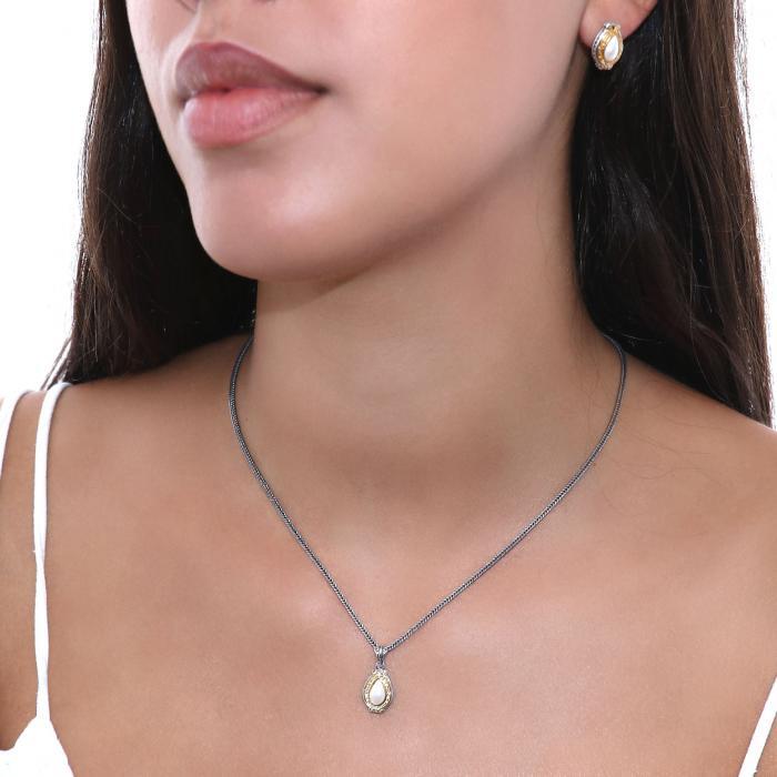 SKU-53615 / Σκουλαρίκια με Πέρλες Ασήμι 925°