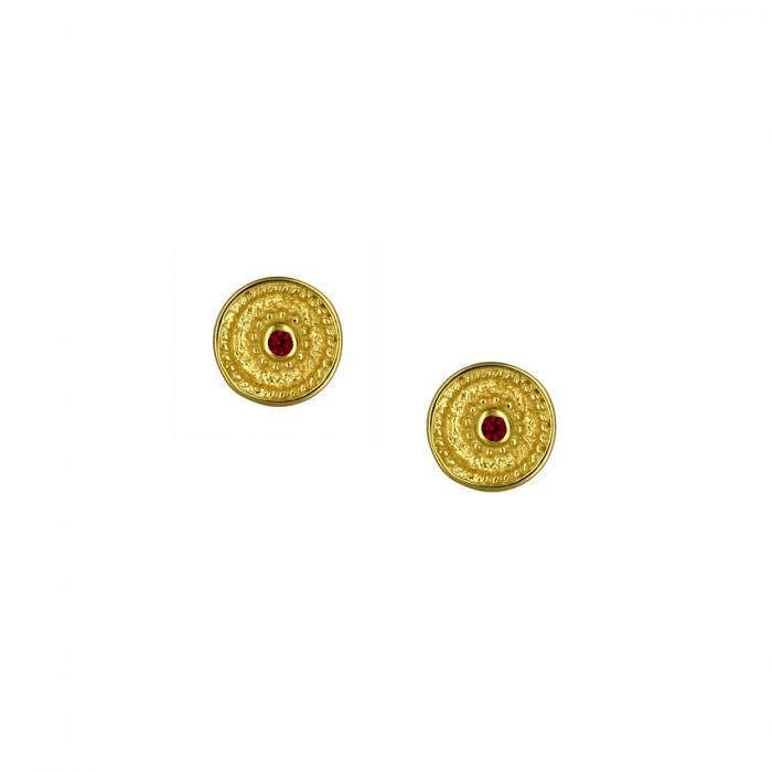 SKU-53601 / Σκουλαρίκια Καρφωτά Χρυσός Κ9 με Ζιργκόν